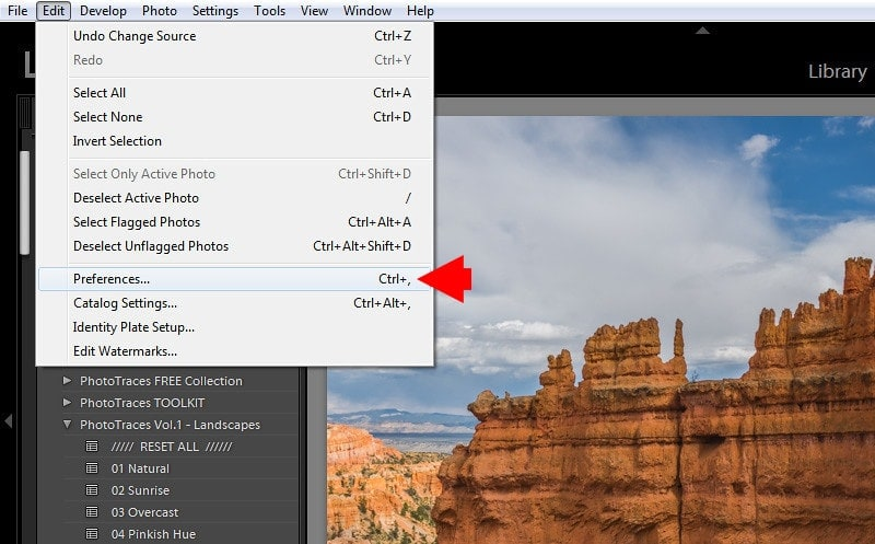 Where are my Lightroom presets stored? - Step 1