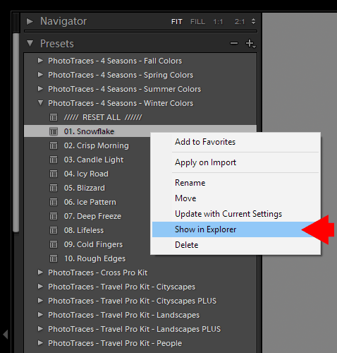 Where are my Lightroom presets stored? - Option 2