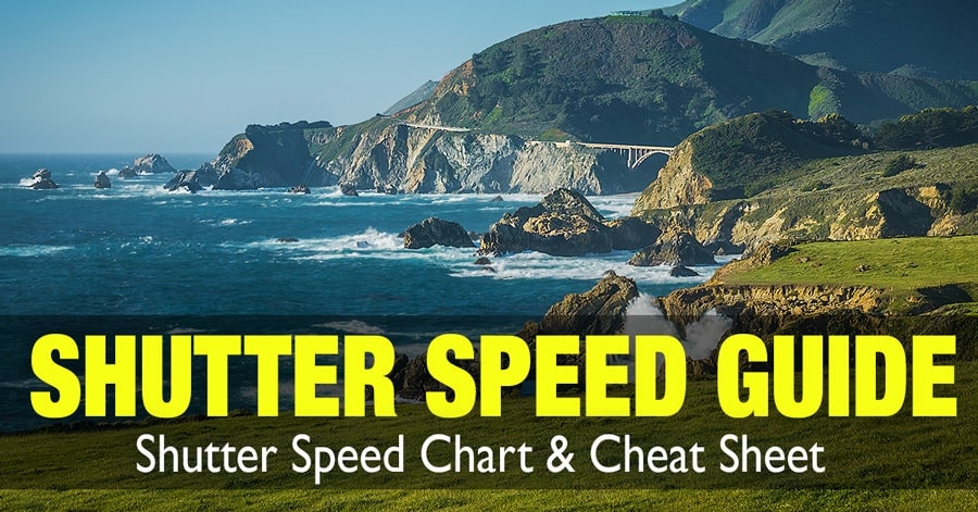 Shutter Speed Chart - Cheat Sheet for Controlling Motion in Photographs