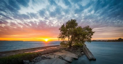 Autumn Sunset at St Lawrence River (Montreal)