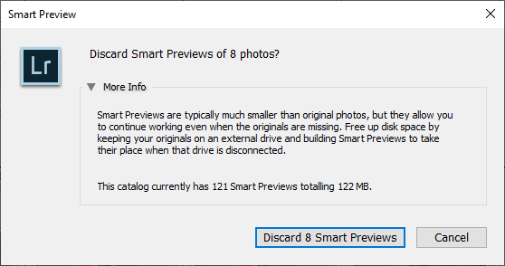 Lightroom Smart Previews - When, Why and How to Use Them 13