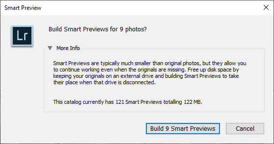 Lightroom Smart Previews - When, Why and How to Use Them 12