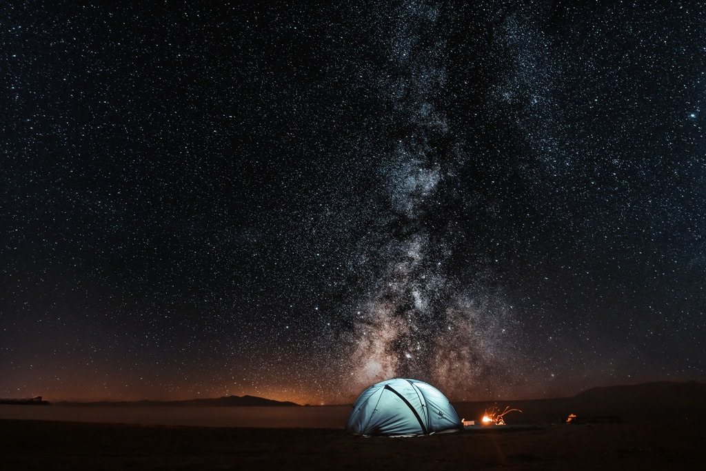 the Milky Way core shot with the wide angle lens