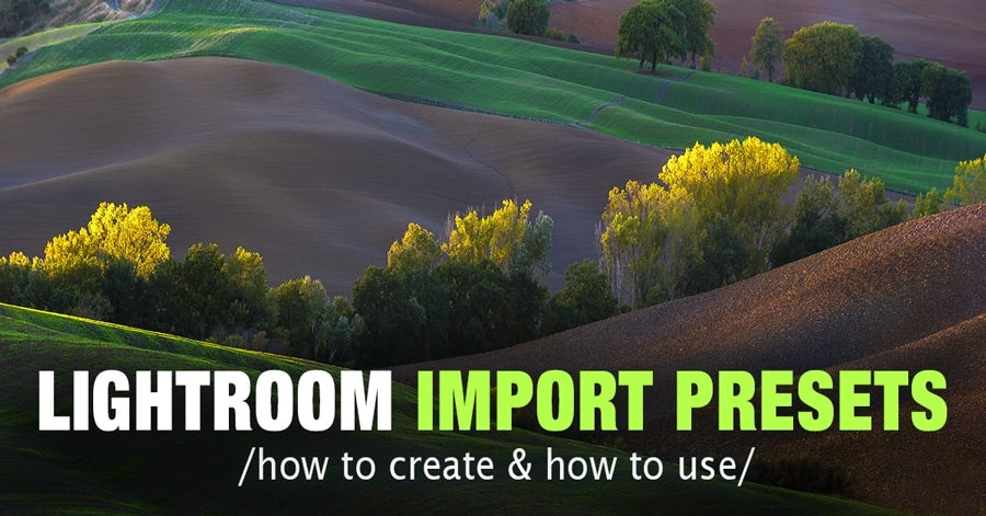 Lightroom Import Presets: How to Create and Use Import Presets