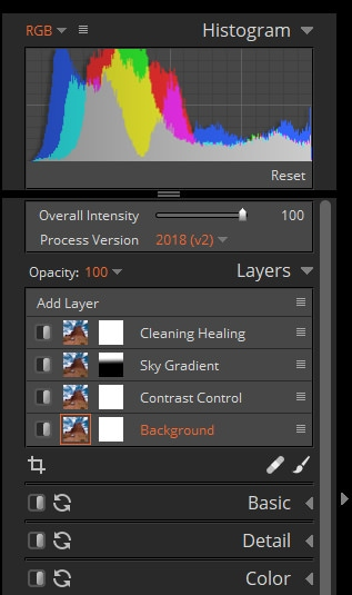 The Layers Panel in Exposure X5 Alien Skin