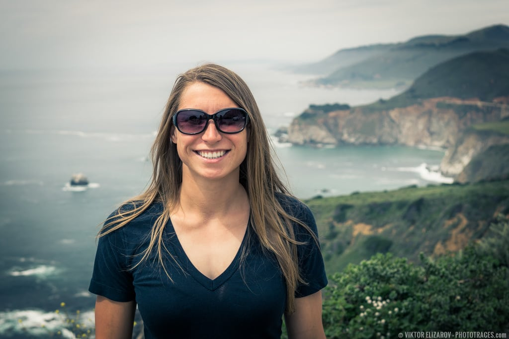 Young woman shot in California, Big Sur with Nifty Fifty lens