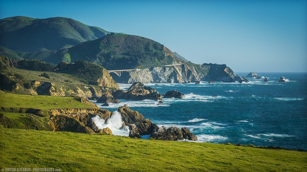 the photo of the California Highway 1 in Big Sur on sunny afternoon