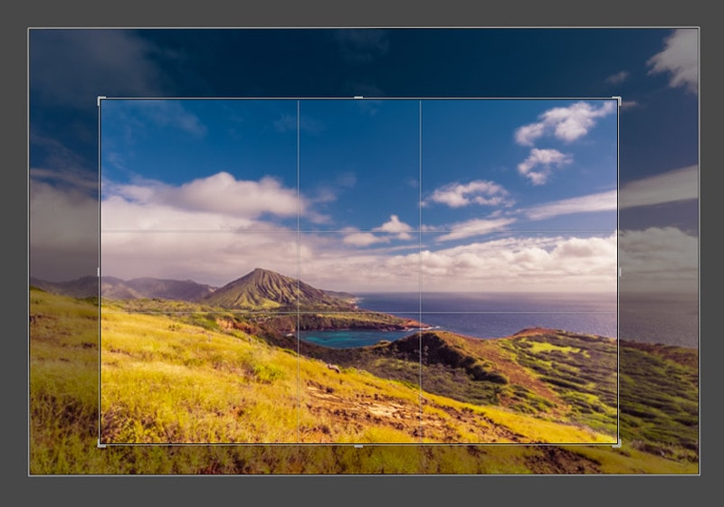 Using the Crop Overlay tool in Lightroom to change Aspect Ratio