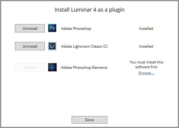 Luminar 4 - Install Plugins