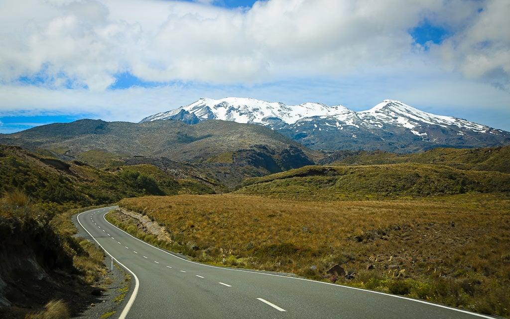11. Desert road night time - New Zealand North Island