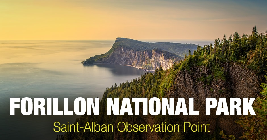 Forillon National Park – Aerial Photography from Saint-Alban Observation Point 2