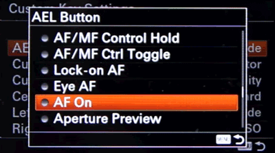 Setting up Back Button Focus on Sony a6000 and a63000 - Step 5