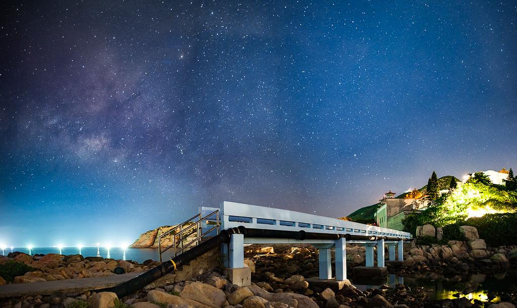 Hong Kong. Night view of Shek O
