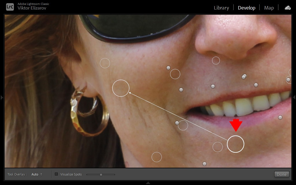 How to Smooth Skin in Lightroom (Fix Blemishes, Pimples & Wrinkles) 7
