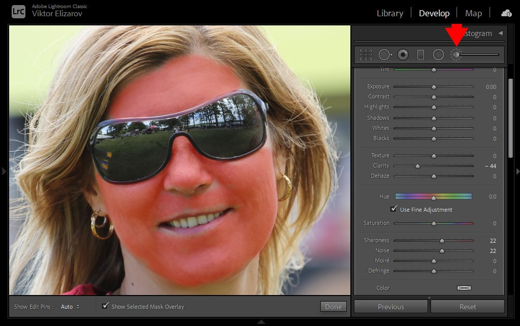 How to Smooth Skin in Lightroom (Fix Blemishes, Pimples & Wrinkles) 11