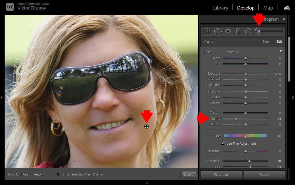How to Smooth Skin in Lightroom (Fix Blemishes, Pimples & Wrinkles) 12