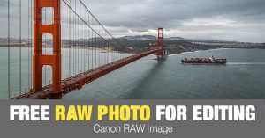 Free RAW Photo: Golden Gate Traffic