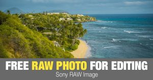 Free RAW Photo: Oahu Beach