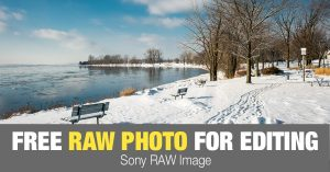 Free RAW Photo: Icy River