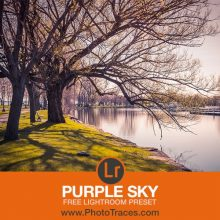 Free Purple Sky Lightroom Preset