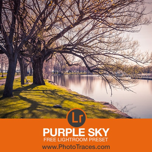 Free Purple Sky Lightroom Preset 1
