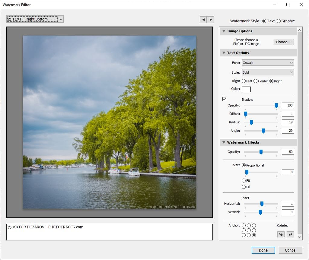 How to Add Watermark in Lightroom Using Presets 5