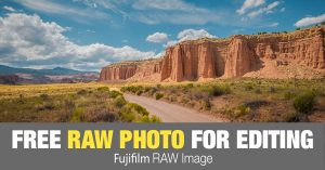 Free RAW Photo: Cathedral Valley Road (Utah)