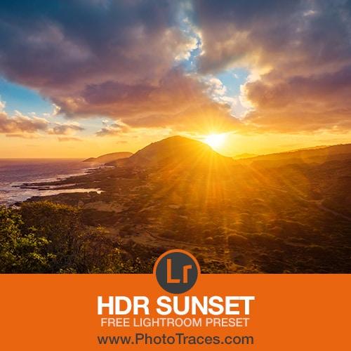 HDR Sunset: Free HDR Lightroom Preset 1