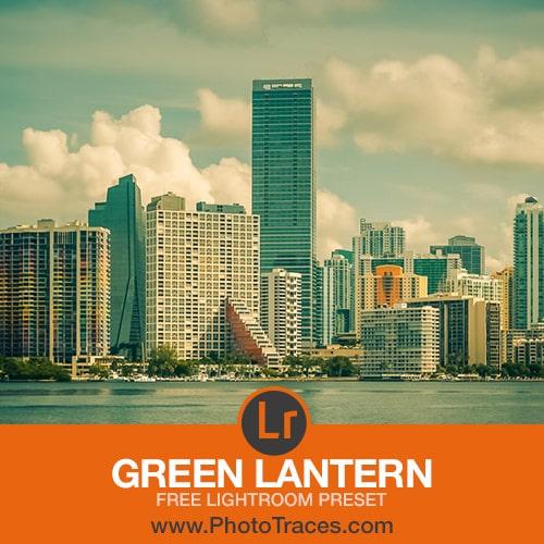 Green Lantern: Free Lightroom Preset 1