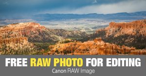 Free RAW Photo: Snow Clouds Over Bryce (Utah)