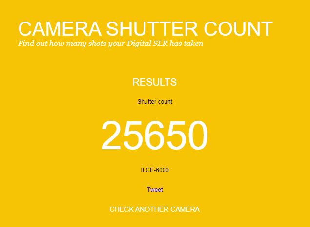 What Is a Shutter Count? How To Check the Shutter Count 2