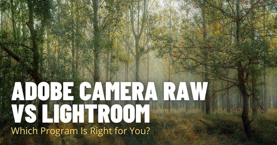 Adobe Camera Raw vs Lightroom