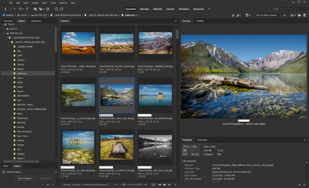 Best Photo Organizing Software: Adobe Bridge