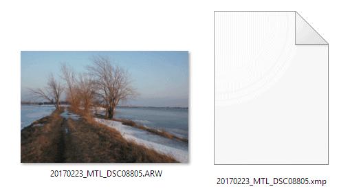 Adobe Camera Raw vs Lightroom: Adobe sidecar XMP file