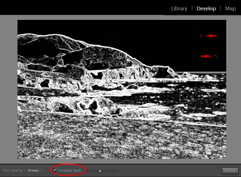 Lightroom Spot Removal Tool When Editing Landscapes 6