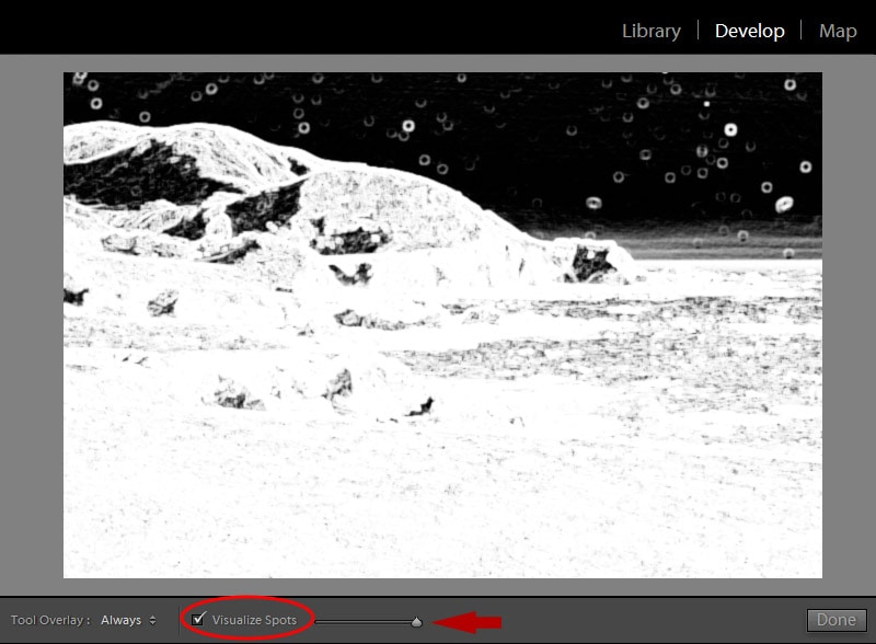 Lightroom Spot Removal Tool When Editing Landscapes 7
